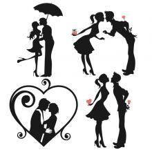 Save the Date: Love Couple Svg Cuttable Designs Silhouette Cameo, Couple Silhouette, Wedding Silhouette, Girl Silhouette, Cutting Tables, Stencil Painting, Love Couple, Kirigami, Cricut Design