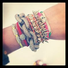 Blair's arm party (from atlantic-pacific)..complemented by stella & dot's renegade bracelet #stelladot