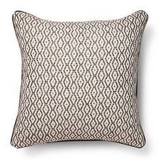 Neutral Diamond Stripe Throw Pillow – Threshold™ : Target