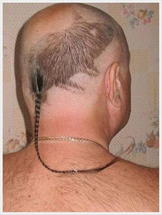"This should be Ryan's next hairdo for his annual boys only river trip and ""I am man hear me roar contest."""