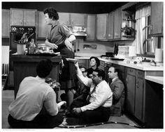 Julia Child while her show was being filmed.