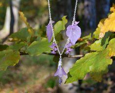 Verkauf-Lavendel-Fee-Halskette violette Blume von HerissonRose