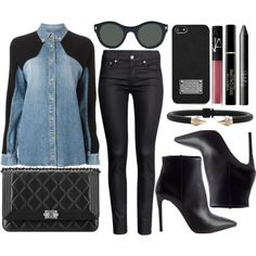 street style by sisaez on Polyvore featuring polyvore fashion style FAUSTO PUGLISI H&M Prada Vita Fede MICHAEL Michael Kors Lucy Folk Max Factor NARS Cosmetics Chanel
