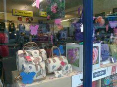 summer handbag display.