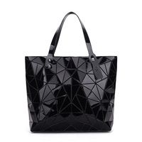 New with Logo and Tags Diamond Geometric Lingge Tote Laser Bgas Irregular Triangle Fold Over Portable Shoulder Bag Handbag