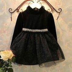0d88cbab333 Shop online for latest designed and beautiful black full sleeves party dress  for baby girls. Get highest quality kids dresses and summer clothes in India  at ...