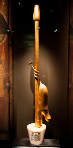 Imiut Totum - an Anubis Fetish used to mystically seal the mummified body - as found in Tutankhamun's Tomb KV62