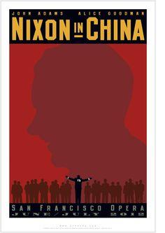 Nixon in China by John Adams. Poster by Michael Schwab.
