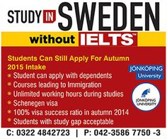 study in sweden for pakistani students