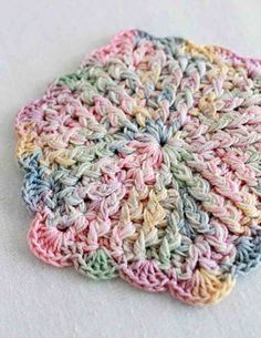 Pastel coasters to crochet or make them a little bigger and use as Easter hot pads.