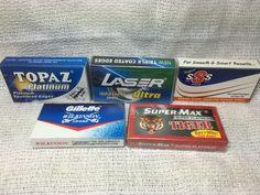 40 blade sampler part of this weeks giveaway at oldtimeshaving.com.
