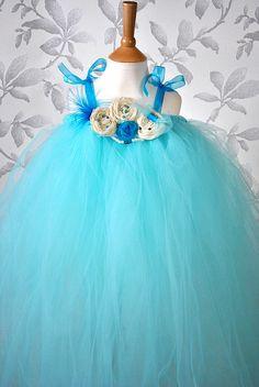 Aqua Blue Tutu Dress for your flower girl