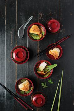 In Japanese homes on the first day of the year, the dish to eat is ozoni, a soup composed of pink-rimmed fish cake, daikon, carrot, and shiitake mushrooms floating in a rich dashi (kelp and bonito broth) along with mochi, chewy rice cakes, which are oven-toasted until they resemble fire-licked marshmallows.
