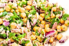 HEALHTY FOOD: Salade met kikkererwten en tonijn - SimKookt