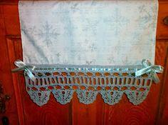 crochet border , koronka szydełkowa,  ozdobna ściereczka