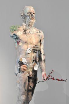 "Paris – David Altmejd: ""Flux"" at the Musée d'Art Moderne Through February 2015 Modern Drawing, Modern Art, Contemporary Sculpture, Contemporary Art, David Altmejd, Figurative Kunst, Unusual Art, Anatomy Art, Gay Art"