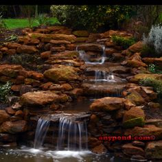 Hand Built Waterfall by Any Pond Limited