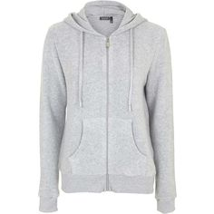 TOPSHOP Brushed Zip Up Hoodie ($45) ❤ liked on Polyvore featuring tops, hoodies, grey marl, grey hooded sweatshirt, zip up hoodie, gray hoodies, grey hoodie and layered tops