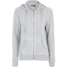 TOPSHOP Brushed Zip Up Hoodie (€40) ❤ liked on Polyvore featuring tops, hoodies, grey marl, gray hooded sweatshirt, grey top, topshop tops, grey zip up hoodie and sweatshirts hoodies