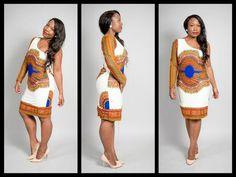 one+shoulder++dashiki+short+dress+by+missbeidafashion+on+Etsy,+$75.00