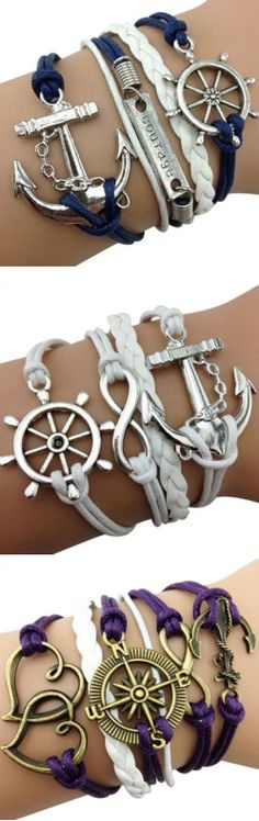 Nautical Love Wrap Bracelets