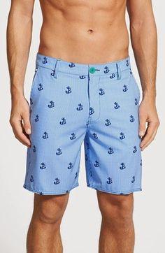 e25b379daa5a4 Sperry seersucker swim trunks Mens Sleepwear, Anchor Print, Nordstrom Sale, Printed  Shorts,