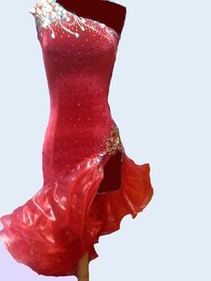Red Dance Latin Dresses