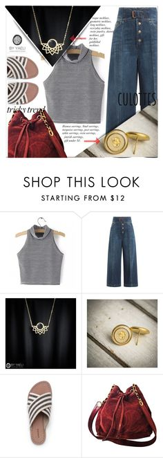 """""""YAELI JEWELRY 3."""" by selmir ❤ liked on Polyvore featuring RED Valentino, Lands' End, Chanel, TrickyTrend and culottes"""