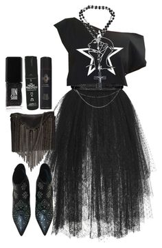"""""""Untitled #797"""" by no0ne ❤ liked on Polyvore featuring Elie Saab, Barbara Bui, Yves Saint Laurent, Serge Normant, Jin Soon and Stand+Deliver"""