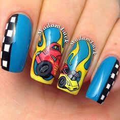 HOT WHEEL CARS by madamluck #nail #nails #nailart