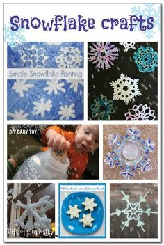 Snowflake crafts for kids - lots of different ways to make beautiful snowflake art with kids! || Gift of Curiosity