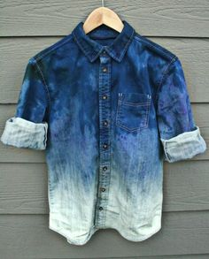 lovely degrade denim shirt