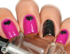 Triple Heart Nail Stencils pink n black Fancy Nails, Love Nails, Pretty Nails, My Nails, Nail Designs Spring, Nail Art Designs, Cute Spring Nails, Summer Nails, Nail Stencils