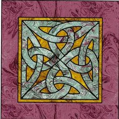 Celtic Knot Square Wall Hanging Quilt Pattern