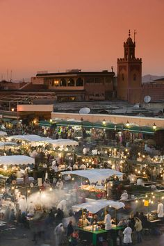 Take me back. Best mint tea and spiced lamb dishes in the world. | Food Stalls, Djemma el-Fna Square, Marrakash, Morocco