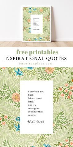 Free inspirational printables on William Morris patterns for DIY wall art, cards, gift tags, crafts, & more. Easy to download & print!