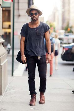 Street style - Look casual (Fuente de la imagen: Pinterest).