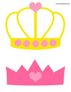 Crowns from Princess Pink Printable Photo Booth Prop Set
