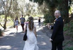 "Newlyweds Julie and Mark Peet taking a stroll in the UC Davis Arboretum shortly after saying, ""I do."" Courtesy photo. #UCDavis #Arboretum #Wedding See their story at: http://www.davisenterprise.com/local-news/arboretum-i-do/"