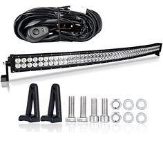 Racbox 52 inch 300W Offroad LED Jeep Light Bar with 18W