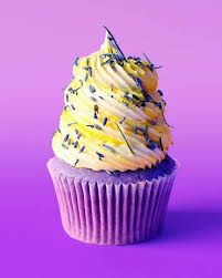 Filled with a dollop of honey, these pretty cupcakes feature lavender and lemon for a bright, citrusy twist.