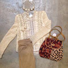 María Cielo: Look del día de Paula y Agustina Ricci Crochet Jumper, Crochet Cardigan, Knit Crochet, Look Boho, Moda Vintage, Crochet Magazine, Crochet Clothes, Refashion, Boho Fashion