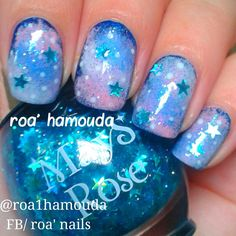 Nails Fingernail Designs, Nail Polish Designs, Us Nails, Swag Nails, Galaxy Nails, Nail Envy, Pastel Nails, Nail Art Hacks, Nail Arts