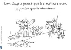 Don quijote y los molinos_Page_3 Spanish Teacher, Teaching Spanish, Atelier Architecture, Dom Quixote, Impossible Dream, Conte, Booklet, Storytelling, Medieval