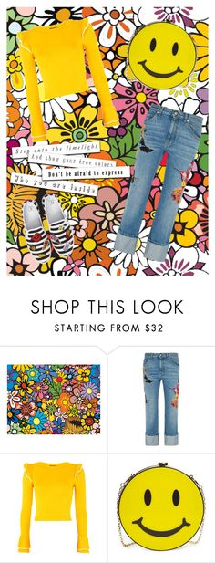 """It's raining outside#let's color the world with some awesome colors in our dresscode#💛👖🌝"" by tdctje ❤ liked on Polyvore featuring Alexander McQueen, Topshop, Natasha and BP."