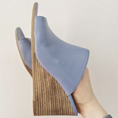 Periwinkle mules from Marshalls by Britton Diaries