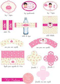 Kit DIGITAL bailarina - Bee You papelaria personalizada