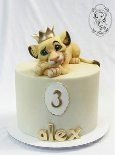 Boys 1st Birthday Cake, Cute Birthday Cakes, Fondant Cakes, Cupcake Cakes, Lion King Cakes, Baby Boy Cakes, Animal Cakes, Disney Cakes, Novelty Cakes