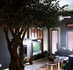 1000 images about trees on pinterest tree branch decor indoor trees and corner tv for Artificial tree for living room