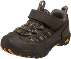 Keen Alamosa Multi-Sport Shoe (Toddler),Dark Shadow/Ochre,4 M US Toddler Keen. $15.02. Rubber sole. Non-marking rubber outsole. Secure fit lace capture system with hook and loop adjustability over instep. Made in China. leather. Water resistant leather and mesh upper